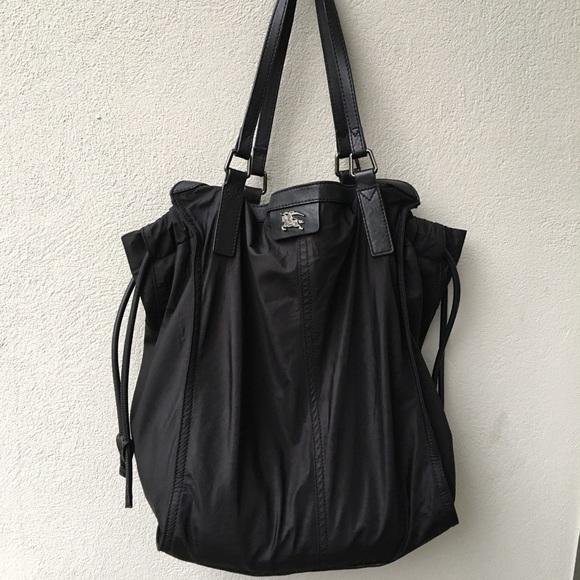 0b8ade22301e Burberry Handbags - Burberry Buckleigh Nylon Shopper Bag Black Nova